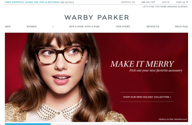 Warby Parker Website