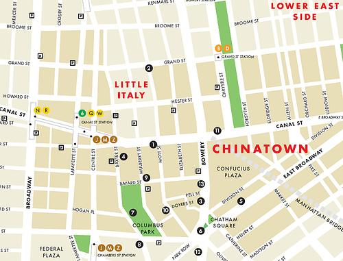 Mapa de Chinatown. Google Imágenes