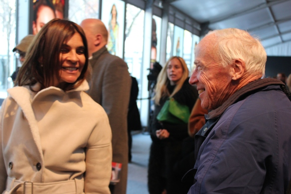 Carine Roitfeld (anterior editor in chief de Vogue Paris) con el entrañable Bill Cunningham (fotografo New York Times)