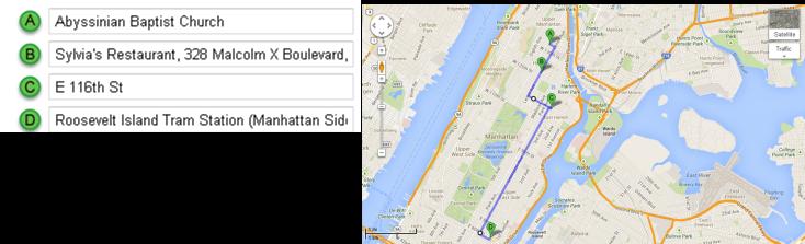 Mapa Recorrido Día 5 – Harlem y Roosevelt Island
