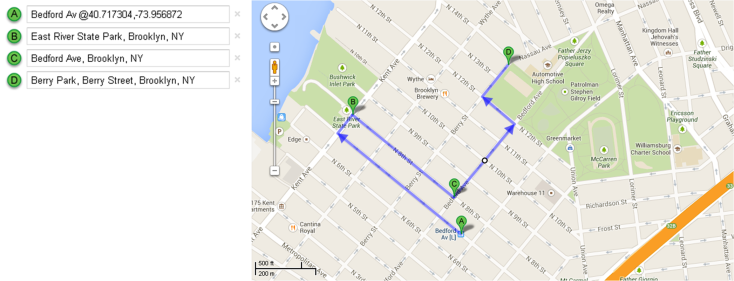 Mapa Recorrido Día 5 – Williamsburg + Berry Park