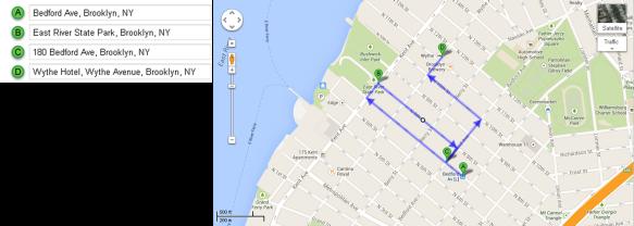 Mapa Recorrido Día 5 – Williamsburg + Whyte Hotel