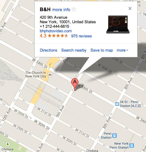 B&H Cámaras de Fotos Nueva York